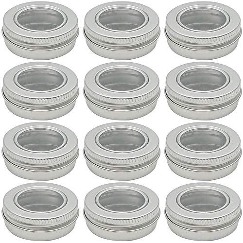 12 tarros de aluminio con rosca para cosméticos, cremas, etc