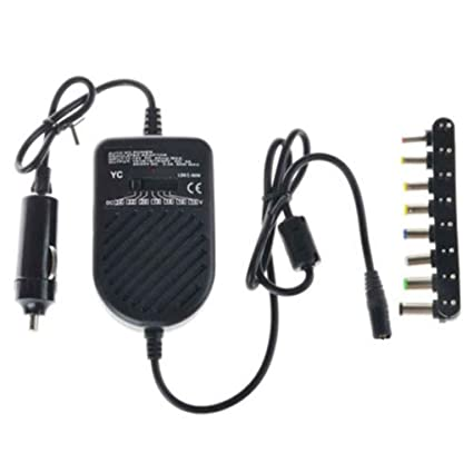 Topker 80W DC Cargador de Coche Adaptador del Ordenador portátil Ajustable para portátil LED Auto Fuente de alimentación 8 Desmontable Cargador ...