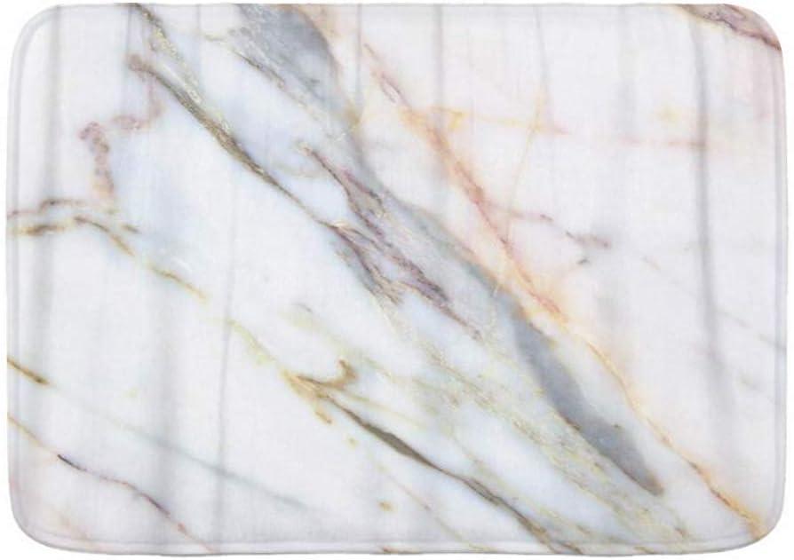 ELIENONO Alfombra De Baño,Marrón Abstracto Mármol Edificios Industriales Paredes Encimeras Gris Antiguo,Suave Antideslizante Alfombrilla de Ducha,Microfibra,75 * 45cm