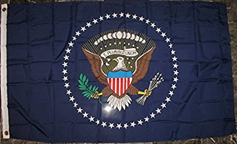 Premium USA Presidential Seal Flag (3 By 5 Foot) - Large Flag With Brass Grommets - 100% Super Polyester Material - Perfect For Hanging (Raiders Guitar Picks)