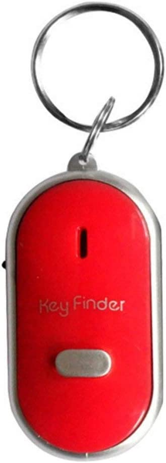 Rouku LED Whistle Key Finder Blinkender Signalton Alarm Anti-Lost Keyfinder Locator Tracker mit Schl/üsselring