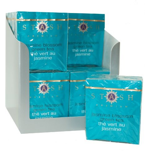 Stash Tea Jasmine Blossom Green Tea, 10 Count Tea Bags in Foil (Pack of 12)