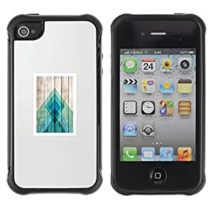 "Hypernova Defender Series TPU protection Cas Case Coque pour Apple iPhone 4 / iPhone 4S [Posters Modelo de madera Polígono Líneas""]"