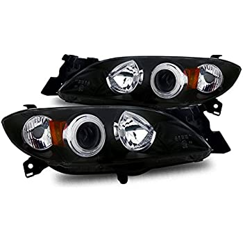 04-06 ES300 CCFL 2 ANGEL EYE HALO PROJECTOR HEADLIGHTS BLACK 02-03 LEXUS ES300