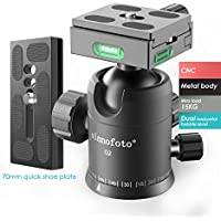 Sinnofoto Q02U Exquisite CNC Shaped Camera Tripod Ball Head With 1/4 Inch Arca Swiss Quick Fast Plate includes Bubble Level, Max Loading 33lbs Ballhead for Tripod,Monopod,Slider,DSLR Camera,Camcorder