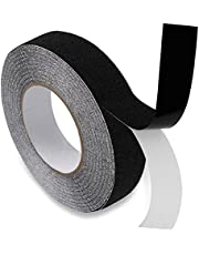 Wonmon 1Inch x 49Ft Grip Tape, Heavy Duty Anti Slip Tape for Stairs, Outdoor/Indoor Waterproof Non Skid Stair Roll Treads Adhesive Traction Tread Staircases Grips Tape Black