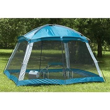Outdoor Screen Room C&ing Canopy Shade Gazebo with Dome Top (12u0027 x 12u0027  sc 1 st  Amazon.com & Amazon.com : Outdoor Screen Room Camping Canopy Shade Gazebo with ...