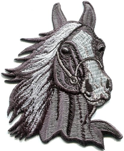 Horse Colt Bronco Filly Mustang Pony Stallion Steed Applique Iron-on Patch S-353 Handmade Design From Thailand
