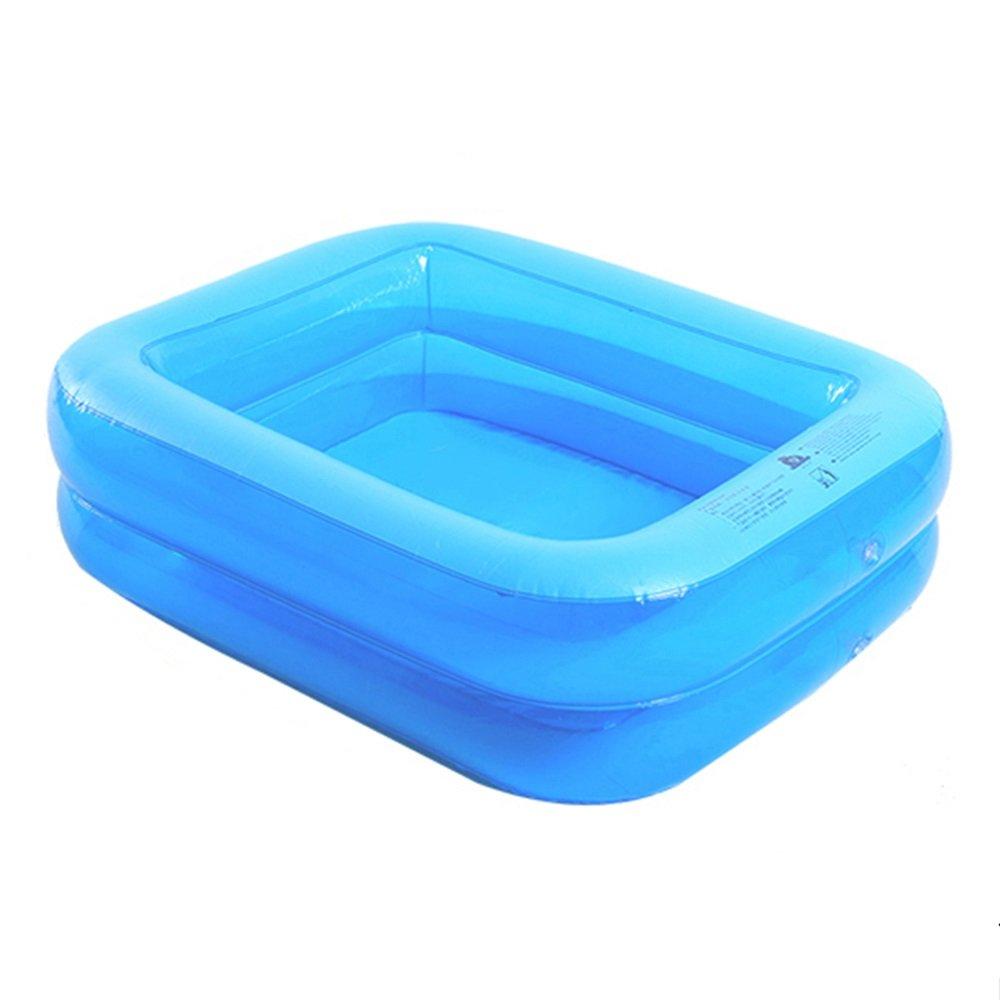 Hw bathtub Transparent Square Two-story Baby Pool Blue Material: Environmental PVC Size: 1209536cm Bathtub (Color : Basic course)