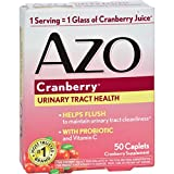 Azo Cranberry Caps - 50 Caplets - Gluten Free - Wheat Free- Maintain a healthy urinary tract - With Probiotic