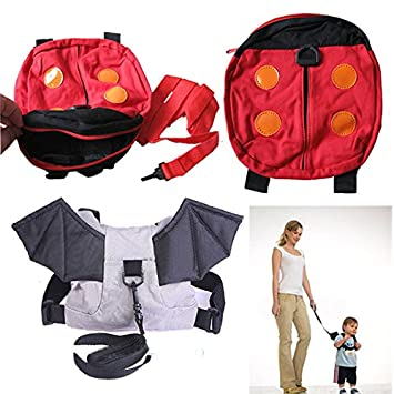 Baby Kids Toddler ladybird Walking Safety Harness Rein Backpack Walker Strap  Bag  Amazon.co.uk  Baby c8413cbaeb07f