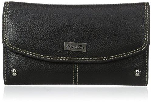 Buxton Women's Westcott Checkbook Clutch, Black, One Size