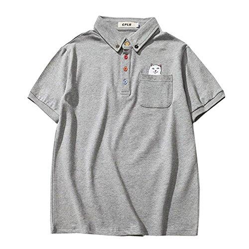 YFFUSHI メンズ 半袖 ポロシャツ ゴルフウェア poloシャツ tシャツ スポーツウェア M-5L 100%綿 カジュアル 春夏秋 フォーマル 大きいサイズ ストライプ
