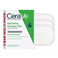 CeraVe Hydrating Cleanser Bar | 3 Pack (4.5 Ounce Each) | Soap-Free Body and Face...