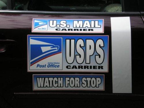 - U.S. Mail Delivery Magnetic Sign Rural Carrier Magnet USPS 5 Piece Set