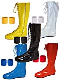 Pro Wrestling Costume Boots with Matching Sweatbands