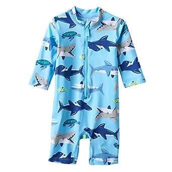 Carter's Blue Shark 1 Piece Rashguard 24 Months