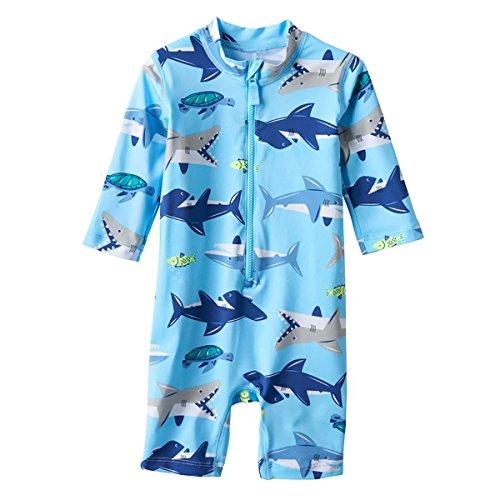 Carter's Blue Shark 1 Piece Rashguard 3T
