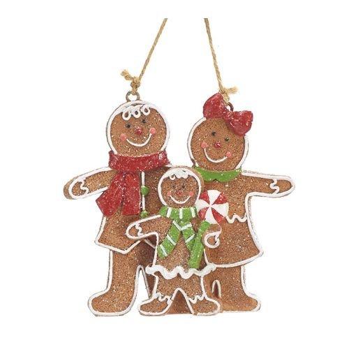 Burton and Burton 9731240 Gingerbread Family Resin Ornament, ()