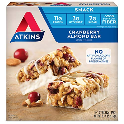 Atkins Snack Bar, Cranberry Almond, 5 Count 1