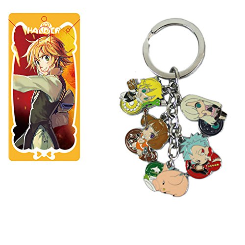 Nanatsu No Taizai Seven Deadly Sins Metal Figures Pendant Keychain Charms Key Ring