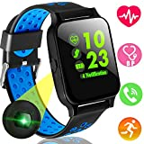 Xenzy Fitness Tracker Smart Watch Phone with Heart Rate Blood Pressure Monitor for Men Women Kids Color Screen Sports Outdoor Watch Calories Pedometer Tracker Call SMS for Android iPhone (Blue)