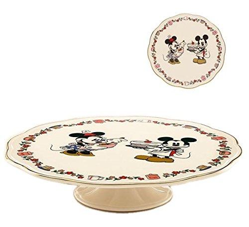 Lenox Disney Mickey And Minnie Sweet Treat Pedestal Cake