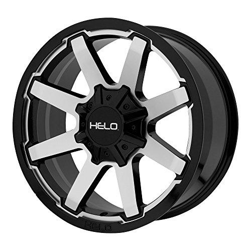 HELO HE909 GLOSS BLACK MACHINED HE909 17x9 6x114.30/6x139.70 GLOSS BLACK MACHINED (18 mm) rims ()