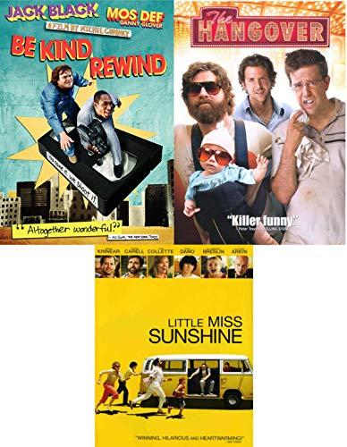 Miss Kind Hangover Comedy DVD Pack Be Kind, Rewind Jack Black + Little Miss Sunshine & The Hangover Bundle/ 3 Feature -