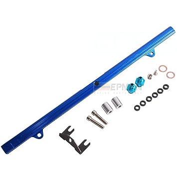 epman ep-rb26yg azul barandilla Inyector de alimentación corriente combustible Turbo Kit Aluminio Billet: Amazon.es: Coche y moto