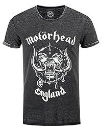 Motorhead T Shirt England Warpig band logo Official Unisex slim fit Burnout