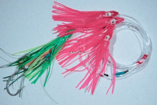 Blue Water Candy 93004 Squid Daisy Chain, Fluorescent Pink and Green Finish