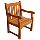 LuuNguyen Adam Outdoor Hardwood Dining Arm Chair(Natural Wood Finish) Review
