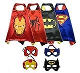 Cosplay Superhero Dress Up Costumes Mask Kids SET- Capes toys Masks Childrens Halloween