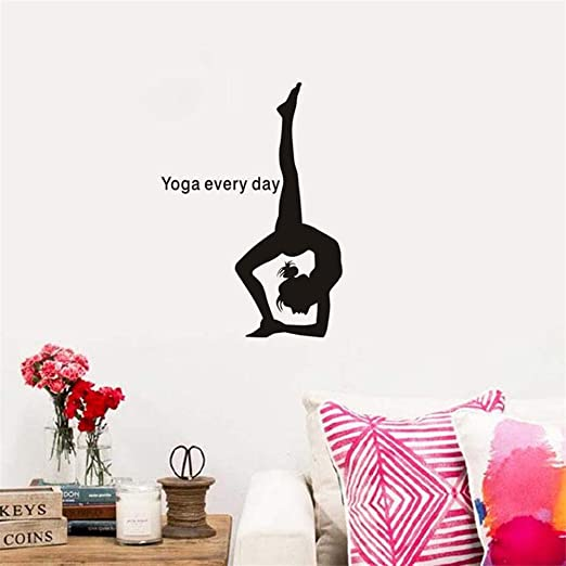 etiqueta de la pared Yoga Girl Club Sticker Decal Posters ...