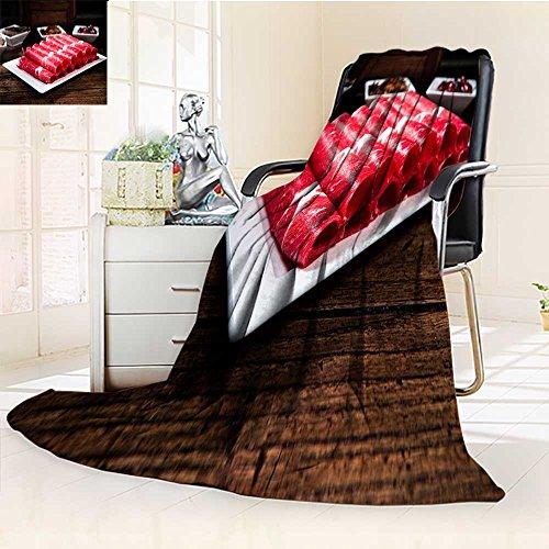 YOYI-HOME Digital Printing Duplex Printed Blanket Hot Pot Beef Dishes Warm Microfiber All Season Summer Quilt Comforter/59 W by 79