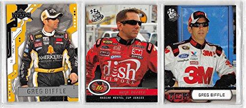 Greg Biffle - NASCAR Racing Card Lot - 3 Cards (A) ()