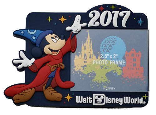 Disney-Parks-Photo-Frame-Magnet-2017-Sorcerer-Mickey-Logo