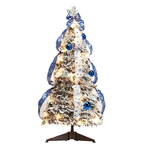 Fox Valley Traders 3' Snow Frosted Winter Style Pull-Up Tree by Holiday PeakTM