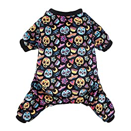 CuteBone Christmas Dog Jumpsuit Shirt Winter Holiday Cute Pjs Pet Clothes Bodysuit for Doggie Onesies