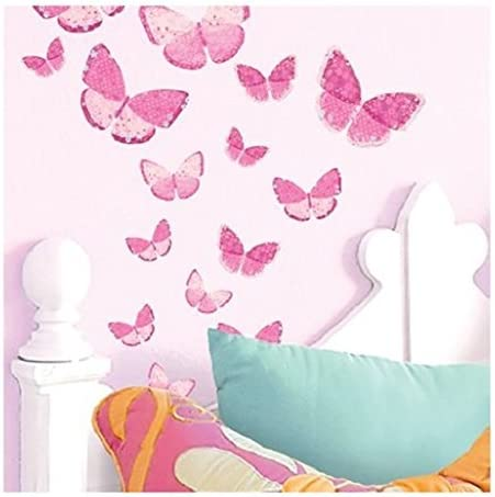 Amazon Com Main Street Wall Creations Jumbo Stickers Wall Decals Pink Butterflies 2 Pack Home Kitchen