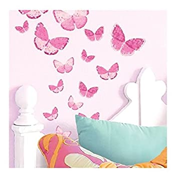 Main Street Wall Creations Jumbo Stickers Wall Decals   Pink Butterflies (2  Pack) Part 8