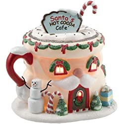 Department 56 North Pole Village Santa's Hot Cocoa Café Lit House