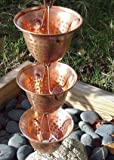 Copper Bells Rain Chain with Installation Kit (10 Foot)