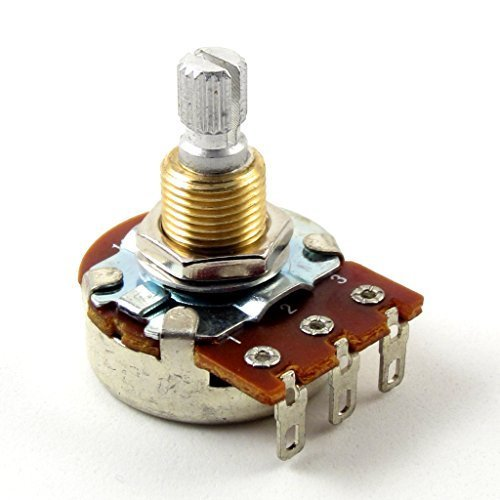 - Bourns 250K Split Shaft Low Friction Audio Taper Potentiometer