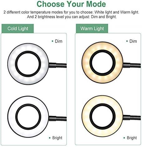 2 Color Book Light /& GLORIOUS-LITE 5W LED Clip on Light//Reading Light//Bed Light