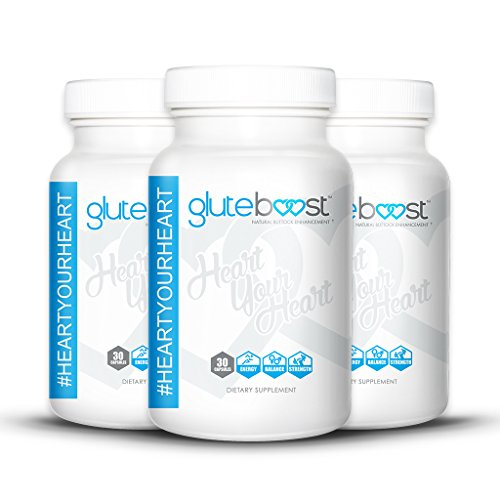 Natural Butt Enhancement Pills to fast track Getting A Bigger Butt - Gluteboost for Scientifically Engineered for maximum Buttock Enhancement | by SuppTech (3 Month Supply)