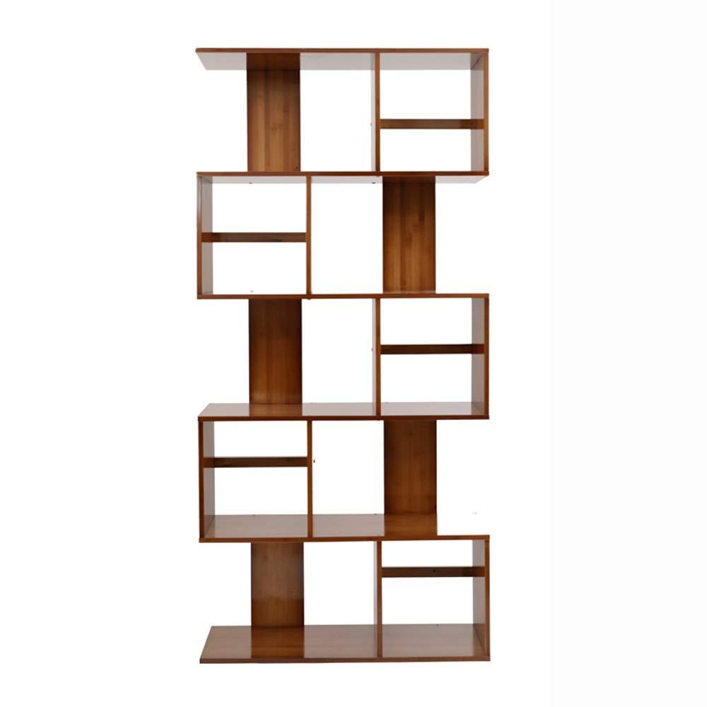 Qing MEI Modernes Minimalistisches Holz-Bücherregal Wohnzimmer-Bodenständer Studenten-Bücherregal Kombination Kreatives Mehrschichtiges Kleines Bücherregal (größe : 80x24.5x169)
