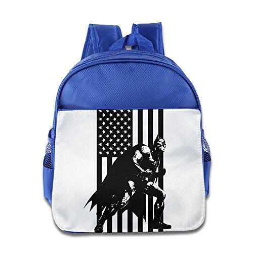 - XJBD Custom Funny Americana Bat Kids Children School Backpack For 1-6 Years Old RoyalBlue