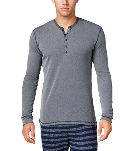 Kenneth Cole REACTION Mens Striped Henley Sleep Shirt Navy - Online China Shipping Free Stores
